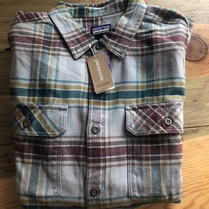 Patagonia Men's Fjord Flannel Shirt, Feather Grey